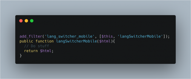 Lang Switcher Mobile
