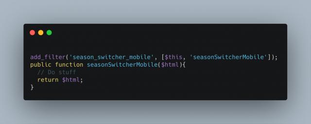 Season Switcher Mobile