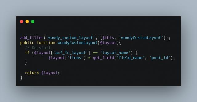 Woody Custom Layout