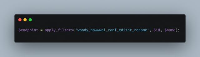 Woody Hawwwai Conf Editor Rename