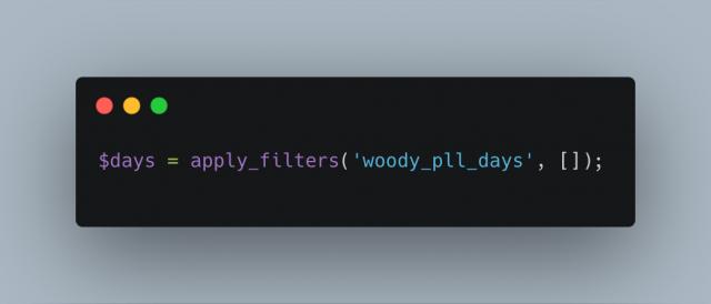 Woody Pll Days