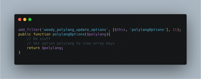 Woody Polylang Update Options