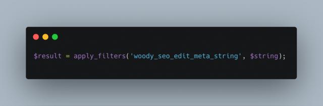 Woody Seo Edit Meta String