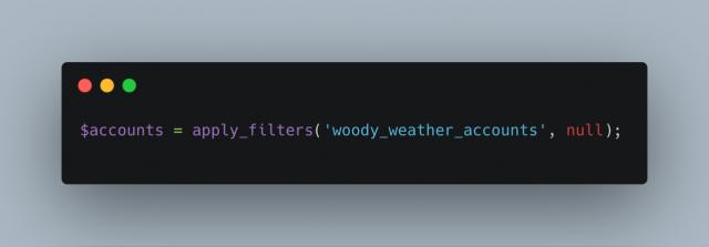 Woody Weather Accounts